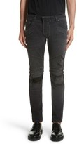 Pierre Balmain Men's Destroyed Moto Jeans