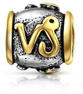 Bling Jewelry Capricorn Charm Gold Plated 925 Sterling Silver Zodiac Bead.