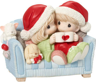 Precious Moments I Love You With My Whole Heart Couple On Couch Figurine