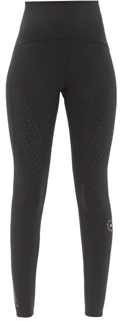 Thumbnail for your product : adidas by Stella McCartney Truepurpose High-rise Jersey Leggings - Black