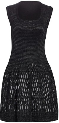Alaia Diaphane Squareneck Dress