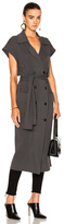 Soyer Marge Sleeveless Trench Coat in Gray.