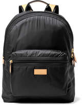 Paul Smith Leather-trimmed Shell Backpack - Black