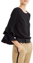 J.Crew Women's Lana Tiered Bell Sleeve Top