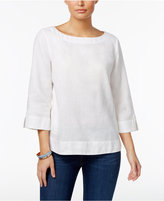 Charter Club Linen Popover Top, Only at Macy's