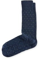 Neiman Marcus Square-Dot Jaspe Socks