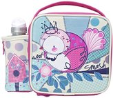 Smash Wear Woot Insulated Lunch Bag and 350ml Bottle -Pink