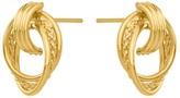 14K Gold Door Knocker Post Earrings