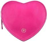 Maxwell Scott Bags Hot Pink Heart Shaped Leather Handbag Organiser