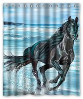 """Animal Series Shower Curtain 60""""(w) x 72""""(h) Cute Horse Theme Print 100% Polyester Bathroom Shower Curtain Shower Rings Included"""