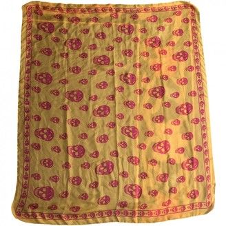 Alexander McQueen Yellow Silk Scarves