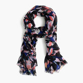 J.Crew Hibiscus print scarf