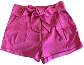 Les Petites Pink Silk Shorts for Women