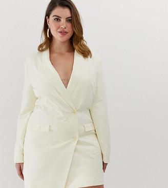 Unique21 Hero tux blazer dress with gold buttons