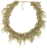 ABS by Allen Schwartz Gold-Tone Green and Clear Crystal Collar Necklace