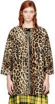 Junya Watanabe Beige and Brown Leopard Coat