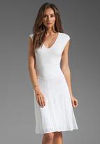 Catherine Malandrino Multi A Line Pointelle Dress
