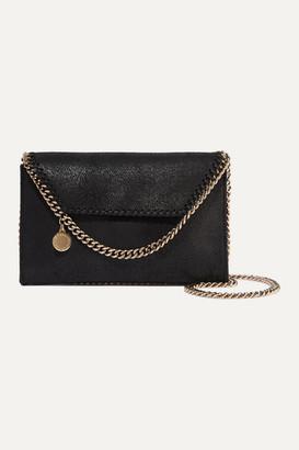 Stella McCartney The Falabella Mini Faux Brushed-leather Shoulder Bag - Black