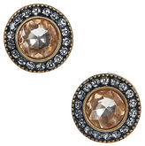 Carole Gray & Champagne Round Stud Earrings