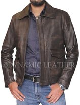 Customized Leather Indiana Jones Distressed- Genuine Cowhide Skin Leather Jacket