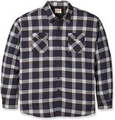 Wrangler Men's Big and Tall Long Sleeve Quilted Lined Flannel Shirt