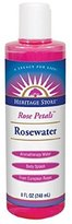 Heritage Products Rosewater, Rose Petals, 8-Ounces (Pack of 3)