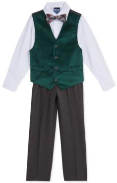 Nautica Toddler Boys 4-Pc. Green Velvet Vest Set