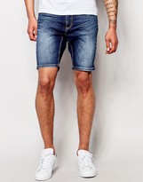 Antony Morato Mid Wash Denim Skinny Shorts