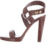 Brian Atwood Braided Leather Sandals