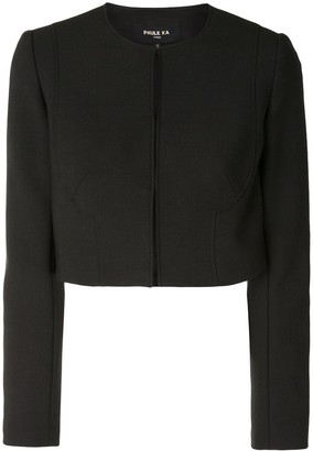 Paule Ka Round Neck Cropped Jacket