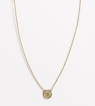 Reclaimed Vintage inspired St Christopher necklace in gold