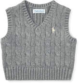 Ralph Lauren Cable-Knit Cotton Vest