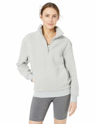 Andrew Marc Women's Teddy Fleece Quarter Zip Pullover