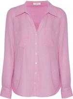 Joie Cartel checked cotton-poplin shirt