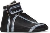 Maison Margiela Black & Silver Future High-Top Sneakers