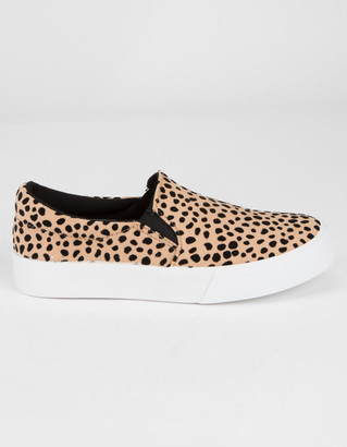 Soda Sunglasses Reign Girls Leopard Slip-On Shoes