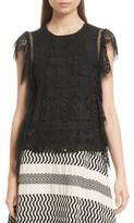 Tracy Reese Women's Flounce Lace Top