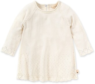 Burt's Bees Lacy Knit Organic Baby Holiday Pointelle Sweater Dress