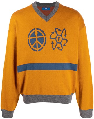 Paccbet Logo Intarsia Knitted Jumper