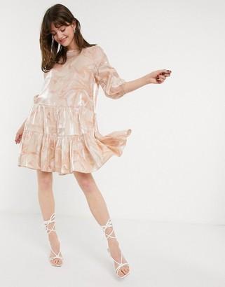 InWear marbled print smock dress in pink
