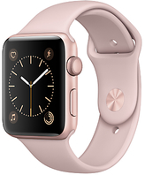 Apple Watch Series 2 42mm Rose Gold Aluminium Case with Sport Band, Pink Sand