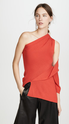 Monse One Shoulder Drape Knit