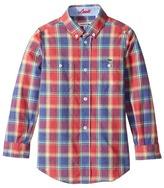 Lacoste Kids - Long Sleeve Plaid Shirt Boy's Clothing