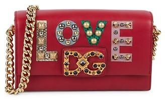 Dolce & Gabbana Love Embellished Crossbody Bag
