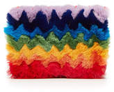 Les Petits Joueurs Fur Clutch with Leather
