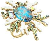 Betsey Johnson Patina Stone Coral Ring Ring