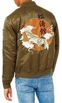 Topman Men's Embroidered Bomber Jacket