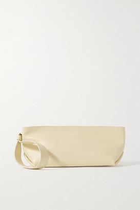 KHAITE Alma Small Leather Clutch - Cream