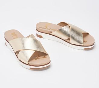 Sam Edelman Cross Strap Slide Sandals - Audrea