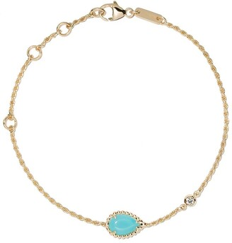 Boucheron 18kt yellow gold Serpent Boheme diamond and turquoise XS motif bracelet